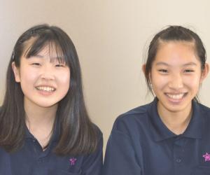 高橋菜梨さん&花川日梨さん